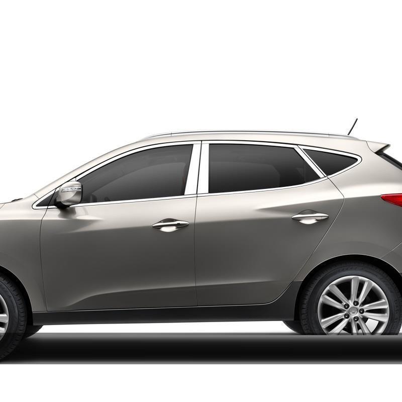 Corps Fenêtre automobile décoratifs voiture de style couvre décoration protecter lumineux paillettes 10 11 12 13 14 15 POUR Hyundai IX35