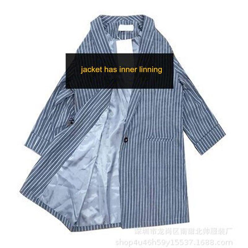 2019 Autumn New Style Striped Jacket Woman Fashion Korean-Style Leisure Thin Women Summer Blazer Feminino Longo Ow0514