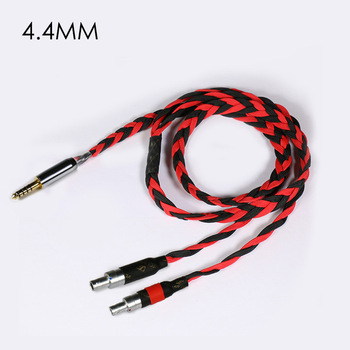 Cable De Caja Negra | Empresa Electrónica Negro Litz HD800 Hd8xx 2,5mm 4,4mm Equilibrado De Cable De Auriculares
