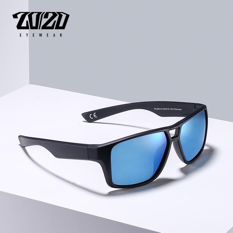 20/20 Brand Fashion Sunglasses Men Polarized Sun Glasses Men's Driving Black Frame Shades Eyewear Oculos PL326