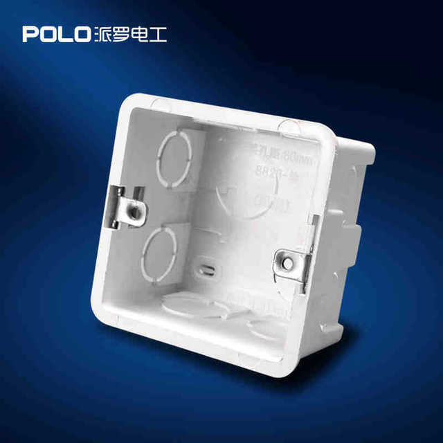 Wall Mounting Box 86 Internal Cassette Wiring Box White Back Box for ...