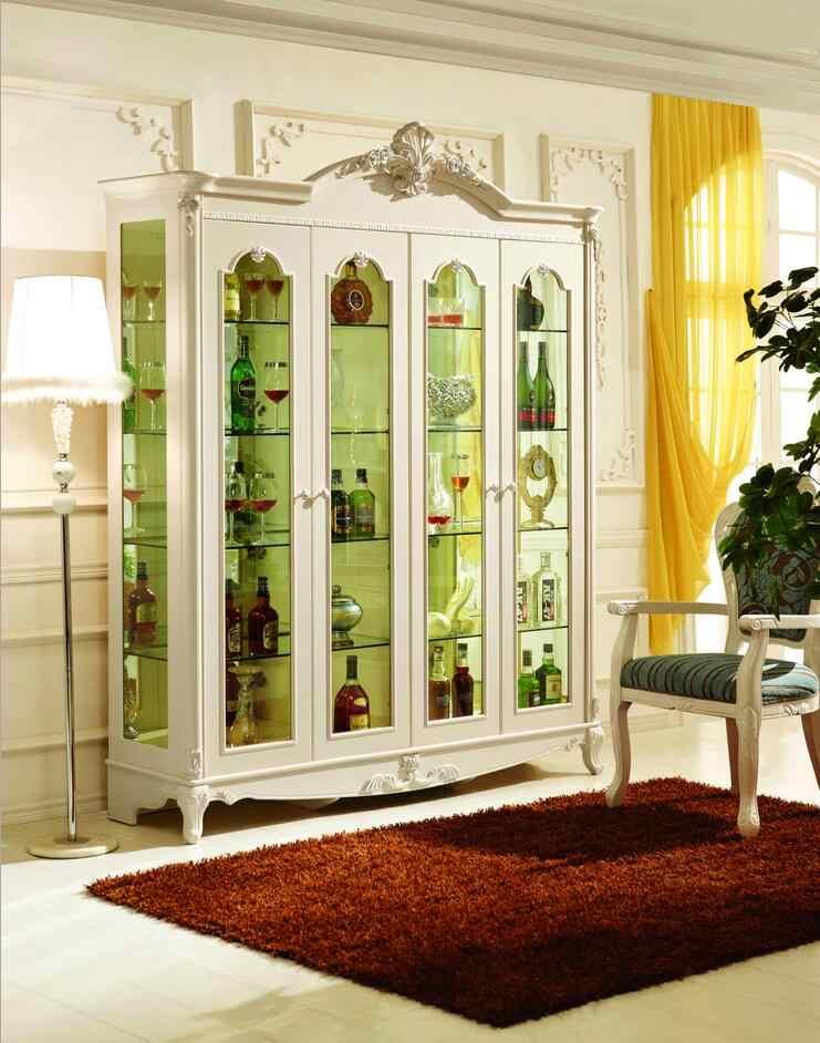 Modern Living Room Lcd Tv Stand Wooden Design Fa18b: European Style Luxury TV Stand Set White Living Room