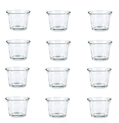 Bulk Set Of 36pc Glass Clear And Frosted Tea Light Candle