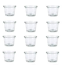 bulk set of 36pc glass clear tea light candle per seteach usd130