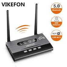 Bluetooth 5.0 nadajnik odbiornik daleki zasięg Audio Adapter do TV PC słuchawki, aptX HD, krótki czas oczekiwania, podwójny Link, optyczny RCA 3.5mm