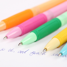 4PCS/lot Creative Pressing Ballpoint Pen 0.7mm Blue Ink Korea for School Office Escolar Material B-5780