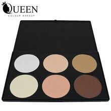 QUEEN Brand New Professional 6 Colors Face Contour Palette Necessary for Cosmatic Makeup Face Contour AC06II