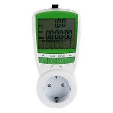 1 unid UE Plug Medidor de Ahorro de Energía Eléctrica Consumo Analizador Del Monitor Watt Volt Amp Frecuencia 230 V 50Hz FreeShip Worldwide