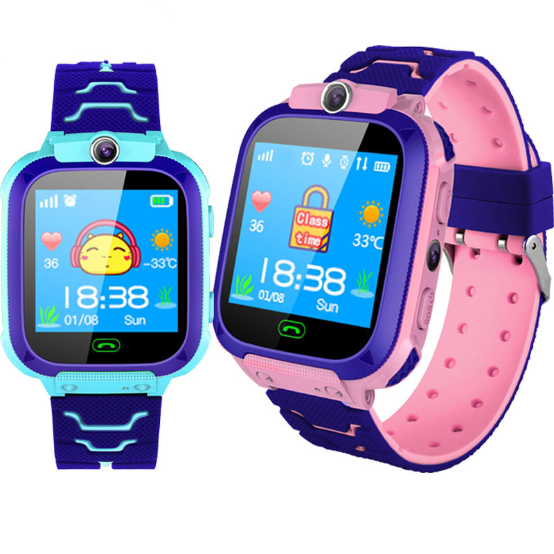 Children Smart Watch Touch Screen LBS Positioning Tracker Monitor Voice Monitoring Phone For Kids Safety Perfect Gift For Kids