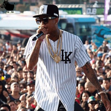 Mann Si Tun Sommer Stil Mens Tees Fashion Street Hip Hop baseball jersey gestreiftes hemd Männer Kleidung tyga letzte könige kleidung