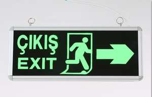 Light Warning-Sign Traffic Security Safety Exit LED Indicator Evacuation Customized Luminous-Guidepost