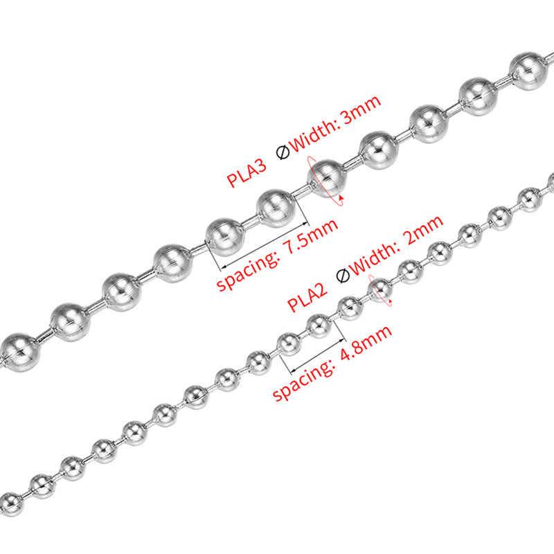 ZHUKOU 3 dólares/1 m Cadena de acero inoxidable mujer collar accesorios para joyería 2mm ancho pulsera hecha a mano cadena la fabricación de la joyería