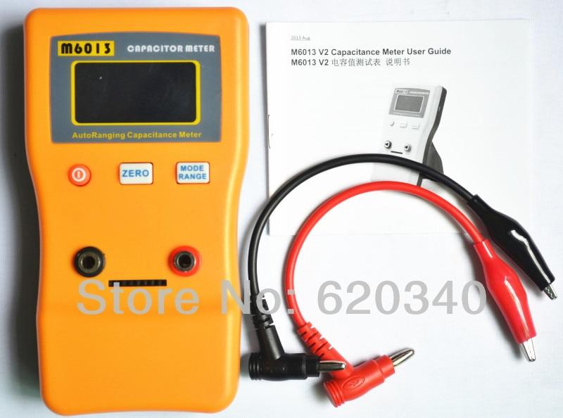 Электронный измеритель емкости диапазона, профессиональный тестер конденсаторов от 0,01 пФ до 470 МФ до 1% м6013 V2