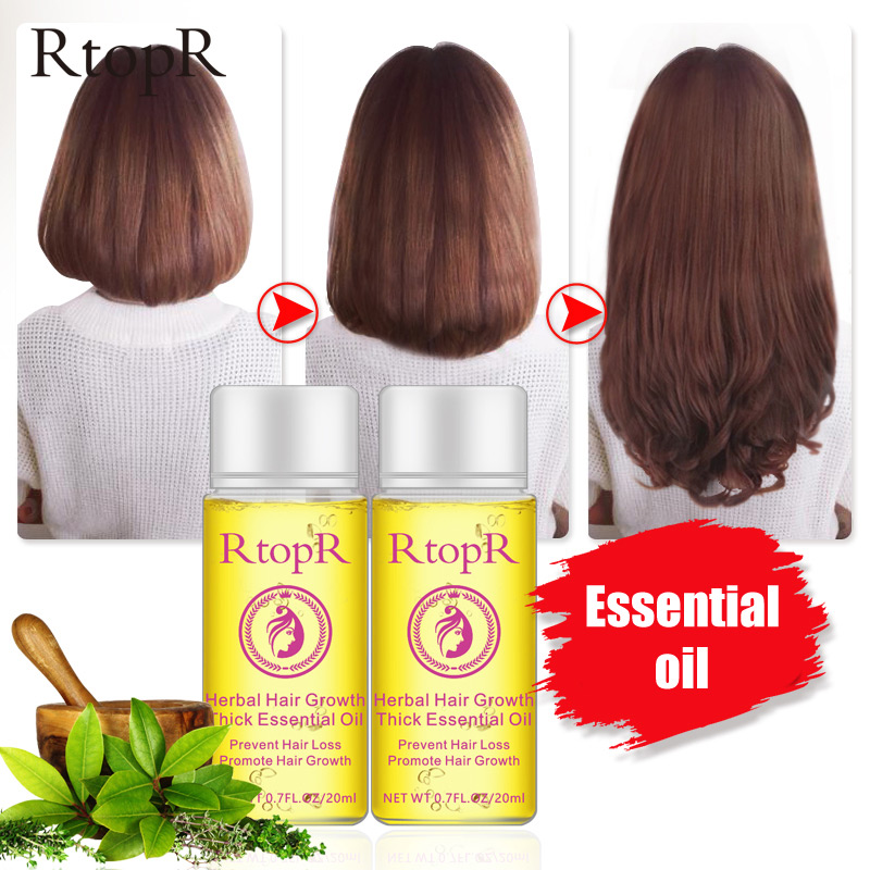 20ml Hair Growth Thick Essential Oil Hair Loss Scalp Care Treatment Herb Hair Care Repair Bright Essential Oil  For Men Women