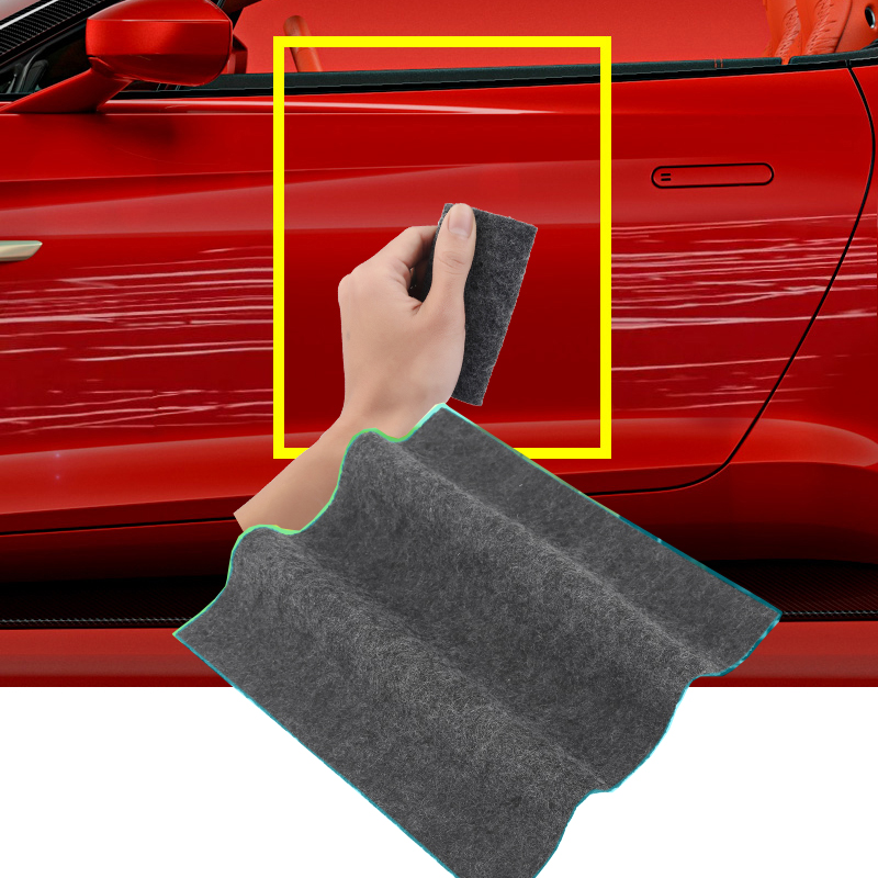 Car Scratch Repair Tool Cloth Nano Material Surface Rags For Automobile Light Paint Scratches Remover Scuffs For Car Accessories sticker