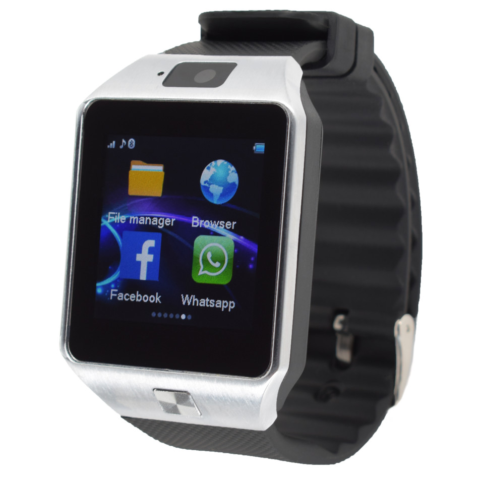 Galleria fotografica Hommes Femmes Smart Watch Pour Android Soutien TF Carte Sim Bluetooth G1 Smartwatch IPS Tchèque Néerlandais Hongrois Arabe Hébreu Persan