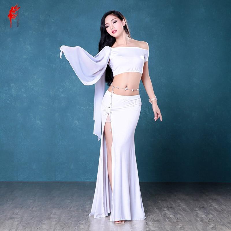 Women Professional Belly Dance Clothes Modal Belly Dance  Top And Belly Dance Skirt Style Of Women Dance Set
