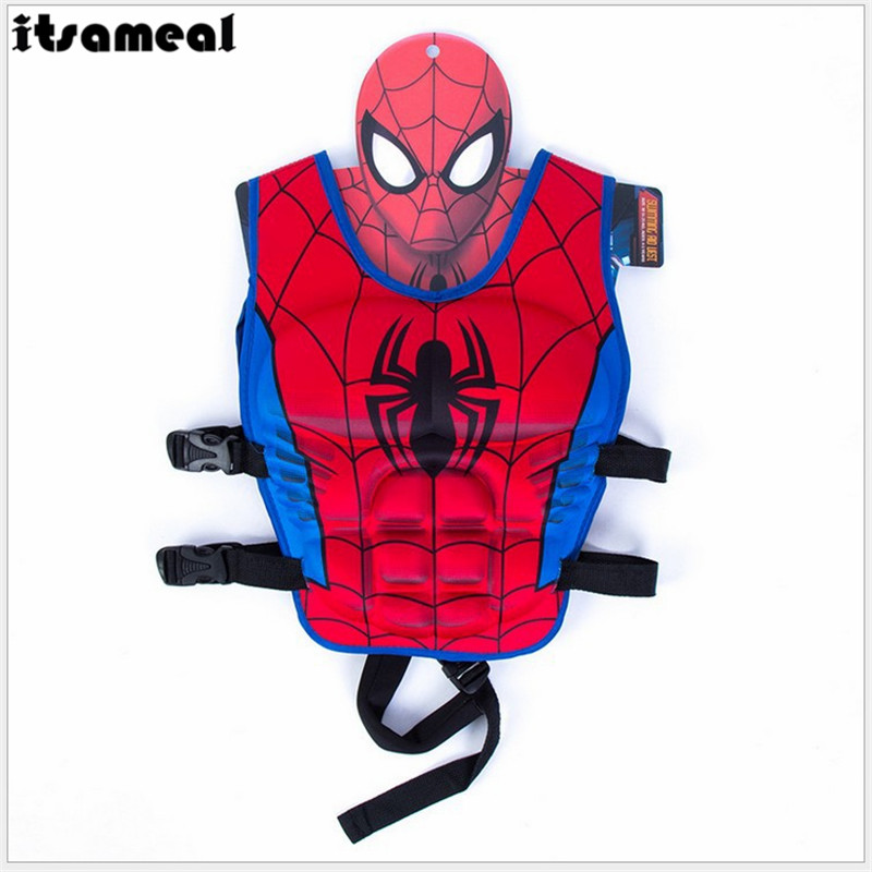 Life Jacket The Avengers Superhero Vest Swimming Circle Pool Accessories Swimsuit Floating Power Sunscreen Swimming Buoyancy