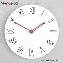 Wholesale White Decorative Photo Frame Wall Clock Home Office Acrylic Silent Novelty 2018