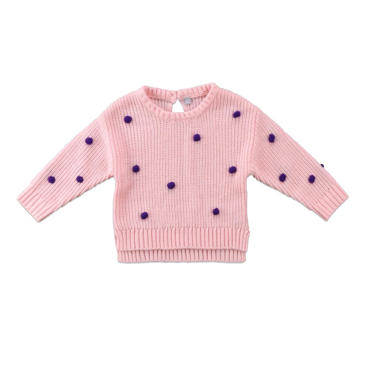 Gewissenhaft Winter Baby Pullover Tupfen Gepatcht Newborn Kinder Mädchen Baby Gestrickte Pullover Winter Pullover Häkeln Tops Kleidung Exquisite (In) Verarbeitung