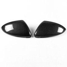 цена на Carbon Fiber Car Door Wing Mirror Covers Styling 2pcs For VW Golf 7 ( GTI 7 Mk7 13-14 )