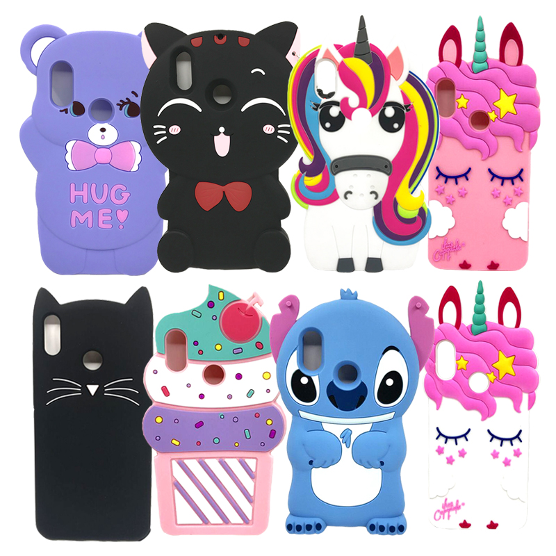 Soft Back Cartoon Cover Case Silicon 3D