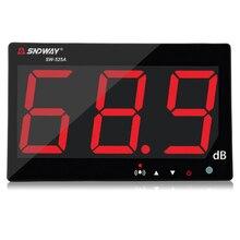 Sndway цифровой измеритель уровня звука 30-130db большой ЖК-дисплей ресторан-бар Indoor/офис/домашний настенный тип шума метр децибел