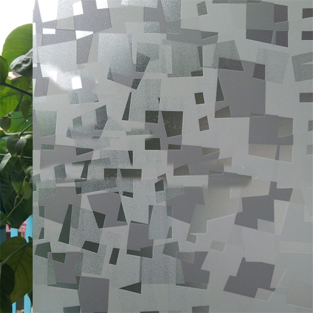 US $25 19 16% OFF|60x600cm lattice static cling translucent self adhesive  glass stickers vinyl Frosted window film privacy window films -in  Decorative