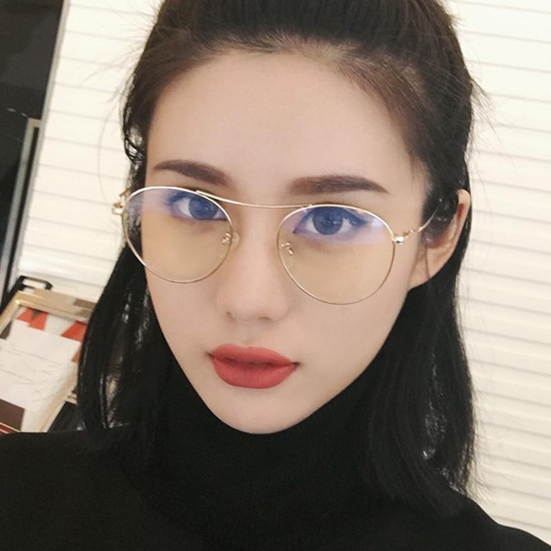 471929dfdf7 Korean Fashion Women Sunglasses Men Clear Transparent Lens Pink Ocean Color  Lens Men Aviation Sunglasses Women