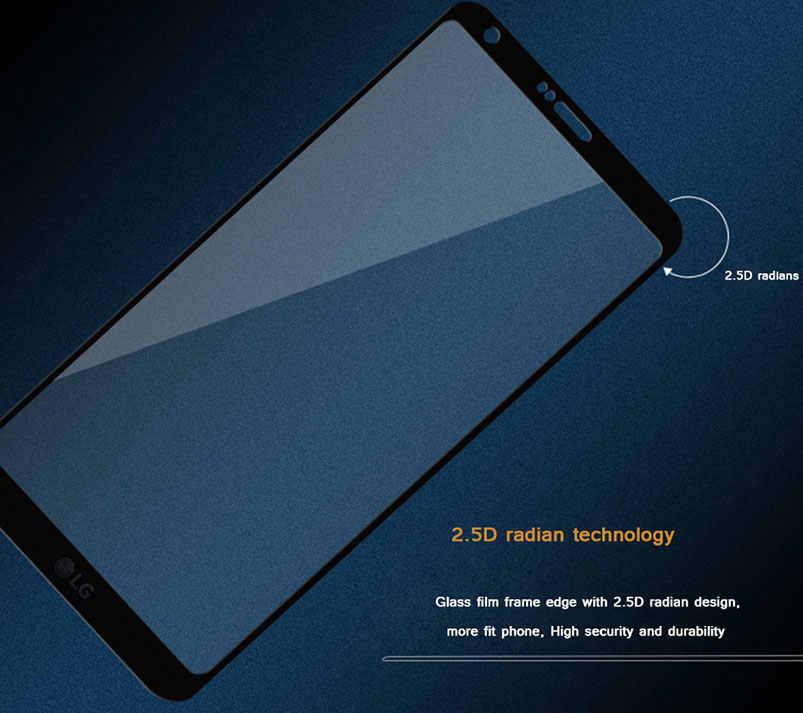 9H pełna hartowana obudowa szkło dla LG G7 ThinQ V30 + G4 G6 V30 Plus Q6 V10 G5 V20 K10 2016 2017 folia ochronna na ekran 2.5D G7