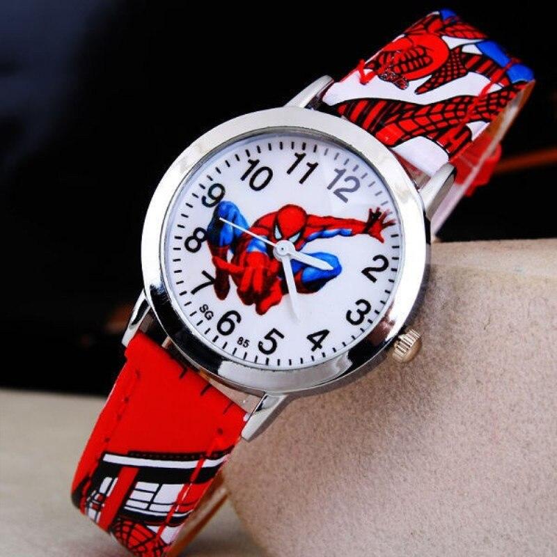 Hot Sale Spiderman Watch Kid Men Waterproof Watch Kids Watches Leather Quartz Watch Boy Girl Gift Children Reloj Montre Relogio