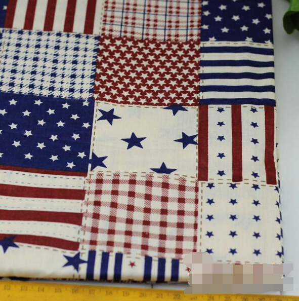 Vintage Stripestar Printed 100 Cotton Fabric For Baby