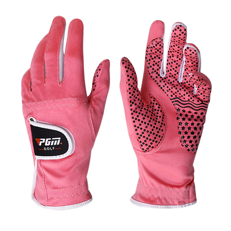 1pair PGM Golf Gloves Women Left Right Hand Anti-slip Soft Breathable Ladies Golf Gloves Sheepskin Grip Sport Golf Accessories