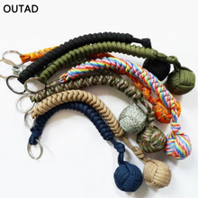 OUTAD Outdoor Multicolor Security Protecting Monkey Fist Steel Ball Bearing Self Defense Lanyard Survival Key Chain