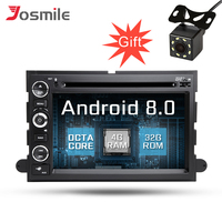Androidht 8.0 8 core Touch Screen Car DVD Player For Ford Explorer Fusion F150 F500 F450 Expedition Radio PX5 4G RAM 32G ROM DAB
