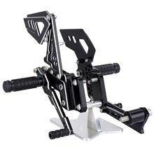 CNC Adjustable Rearsets Foot Rear Rest Footrests For SUZUKI GSX-R 600 750 2006 2007 2008 2009 2010 D25 цены онлайн