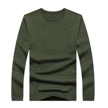 Cashmere Sweater Men Ali New Arrival Winter Thick Warm Mens Sweaters O-Neck Wool Pullover Men Knitwear Solid Color Pull Black
