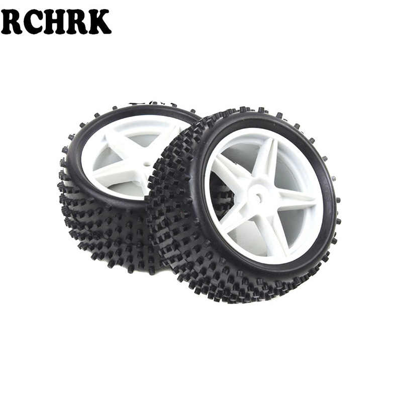 4 piezas RC 1/10 Buggy ruedas y neumáticos 12mm Hex para RC coche HPI HSP 94107 de 94166 94106 neumáticos de desierto de nieve de campo cruzado