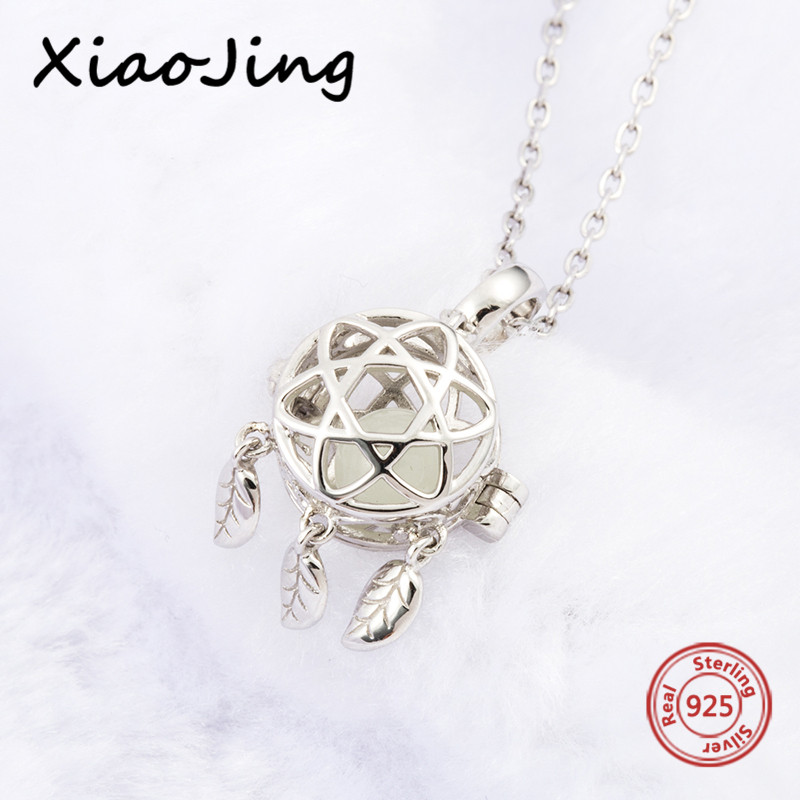 2018 new design 925 sterling silver dreamcatcher glowing pendant chain necklace pandora diy fashion jewelry making women gifts in Chain Necklaces from Jewelry Accessories