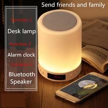 Kuliai gece ışık ile bluetooth hoparlör, taşınabilir kablosuz bluetooth hoparlör SHAVA dokunmatik kontrol renkli LED gece lambası