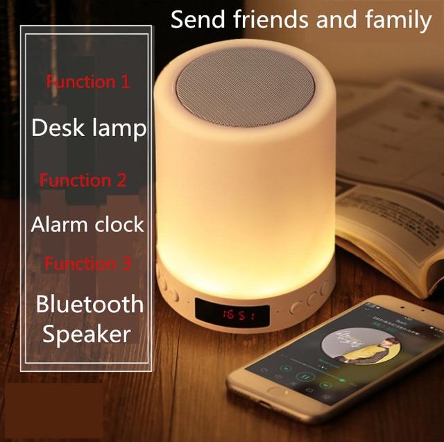 Kuliai ليلة ضوء مع بلوتوث المتكلم ، المحمولة اللاسلكية بلوتوث المتحدث شافا التحكم باللمس اللون LED ليلة ضوء