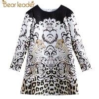 Bear Leader 2017 New European And American Style Children Leopard Animal Design Sophisticated Girl Dresses For