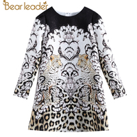 Bear Leader 2017 New European And American Style Children Leopard Animal Design Sophisticated Girl Dresses For