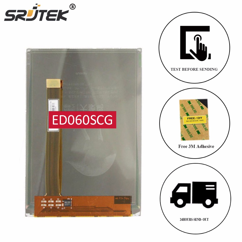 цена на Srjtek 6 E-ink LCD Screen ED060SCG For PocketBook 614 PB614-Y-RU PocketBook 614W Ebook e-Readers LCD Display Replacement Parts