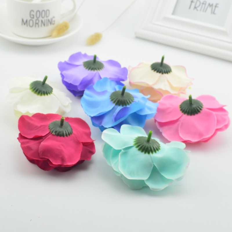 1pcs 8.5cm Handmade Artificial Silk Flower Peony  DIY Decorative Wedding Gift Scrapbook Artificial Flower