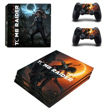 Shadow of Tomb Raider PS4 Pro Skin Sticker and Controllers PS4 Pro Skin Sticker Vinyl