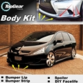 Bumper Lip Deflector Lips For Mitsubishi Grandis / Space Wagona Front Spoiler Skirt For Car Tuning / Body Kit Wing / Strip
