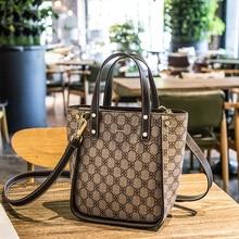 New Package 2019 Printed Bucket simple women bag Fashion Handbag Single Shoulder bags crossbody Bag ladys Handbags