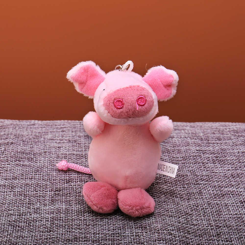 Bonito dos desenhos animados Bola De Pêlo Chaveiro De Pelúcia Rosa Porco animal bag Pingente de Chave anel Titular meninos Chimmy Bolsa Charme Para meninos meninas