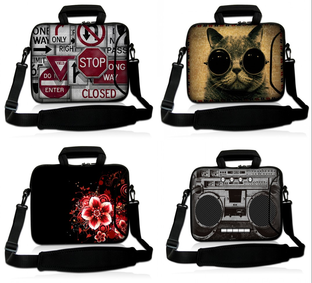Cool 11.6 10 13 13.3 15 17 14 15.6 17.3 Laptop Shoulder Bag Cover Case For HP DELL Compu ...